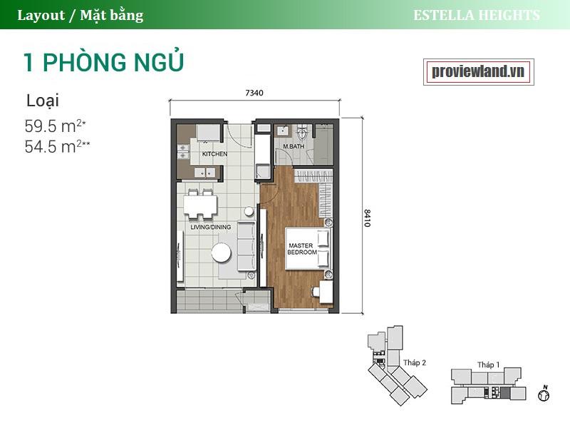 Estella Heights layout apartment 1 bedroom