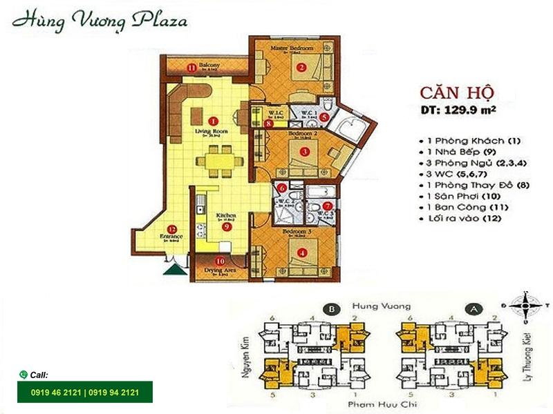 Hung-Vuong-Plaza-layout-mat-bang-can-ho-3pn-130m2