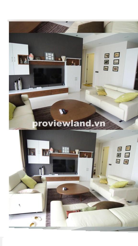 Cho thuê căn hộ The Estella 148m2 3 phòng ngủ view hồ bơi nội thất cao cấp