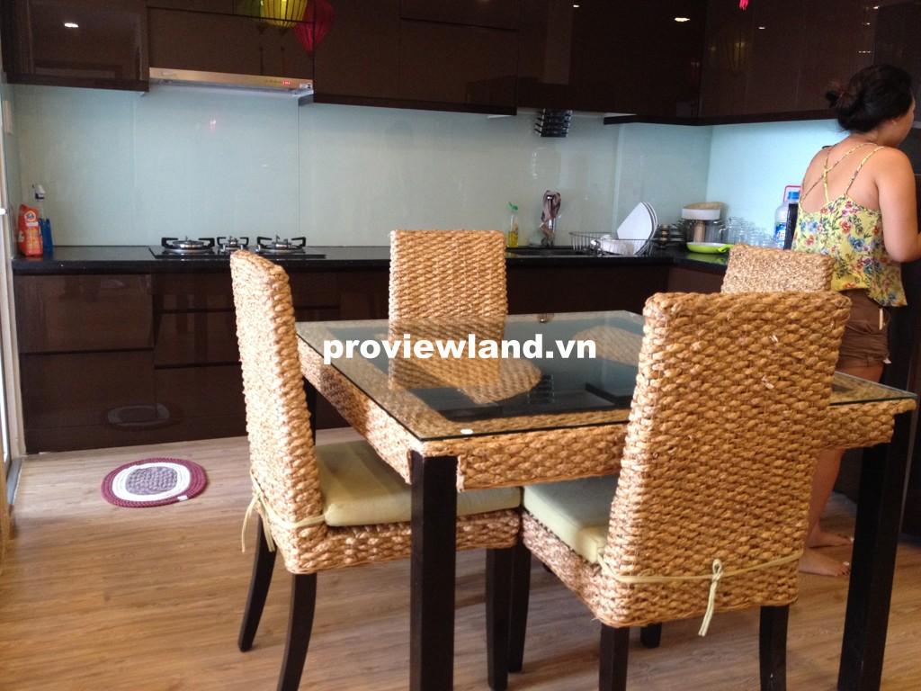 Cho thuê căn hộ Tropic Garden 88m2 2 phòng ngủ tầng cao