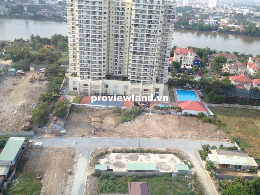 Cho thuê căn hộ quận 2 Tropic Garden tầng cao 88m2 2 phòng ngủ