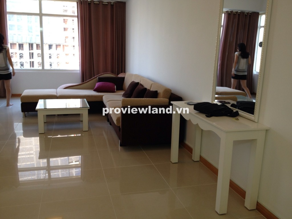 Cho thuê căn hộ Saigon Pearl 122m2 3 phòng ngủ tầng cao tòa Ruby 2