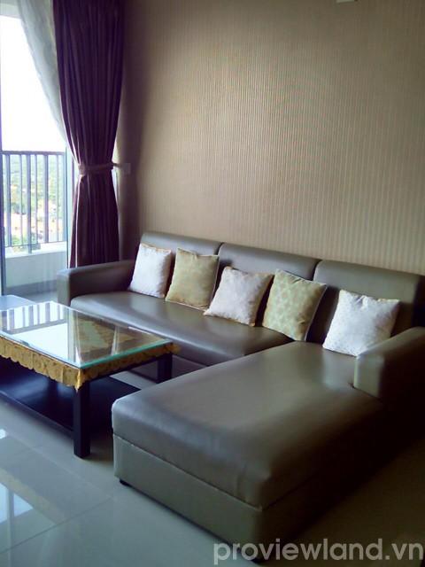 Căn hộ Thảo Điền Pearl 2 phòng ngủ có ban công view sông cần cho thuê