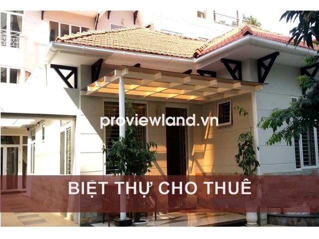 Cho thuê biệt thự hẻm xe hơi đường Võ Thị Sáu 290m2 1 trệt 2 lầu có sân vườn hồ cá