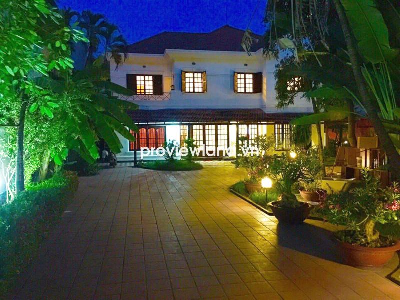 Cho thuê biệt thự quận 2 đường Xuân Thủy 5 phòng ngủ sân vườn hồ bơi