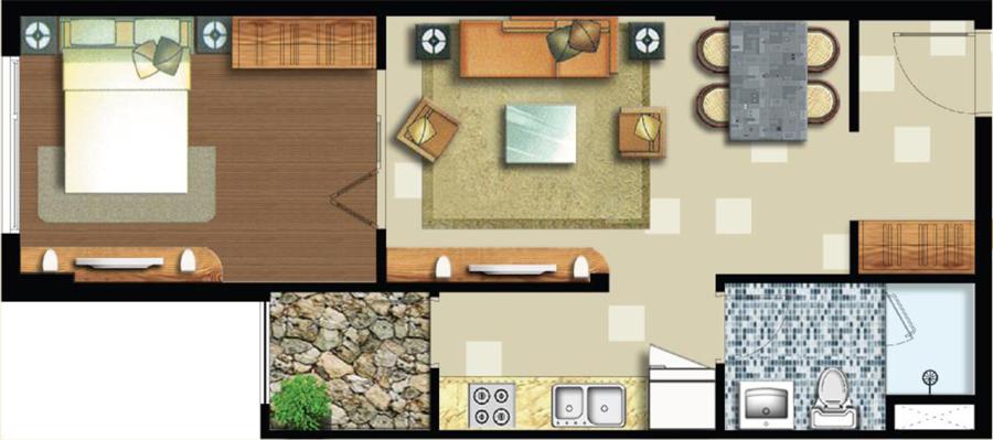 Bán căn hộ quận 2 Lexington Residence 48m2 1 phòng ngủ tầng thấp