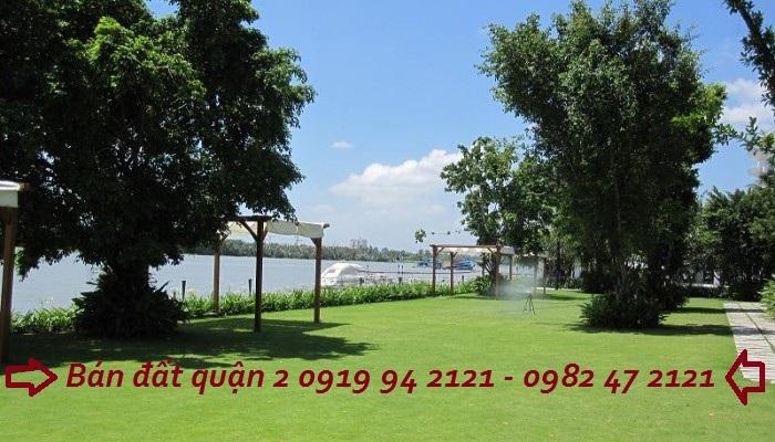Bán đất bờ sông Sài Gòn Trần Não quận 2 với DT 16x16m