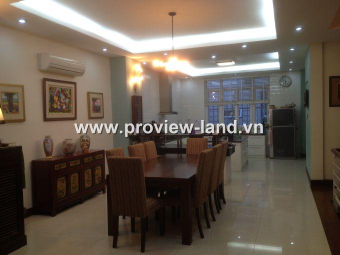 Biệt thự Saigon Pearl cho thuê 4 phòng ngủ Nguyễn Hữu Cảnh quận Bình Thạnh