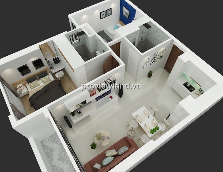 Cho thuê căn hộ Tropic Garden 65m2 tầng thấp 2PN thiết kế tinh tế và sang trọng