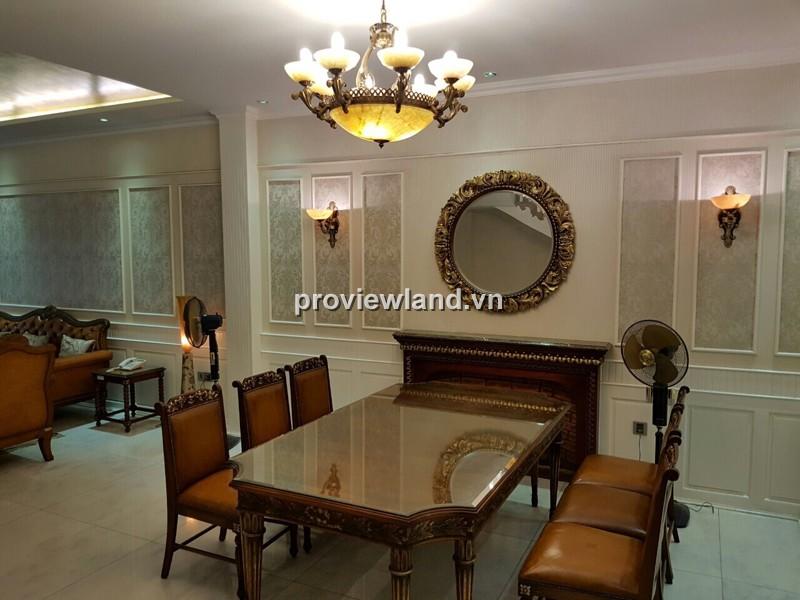 Cho thuê biệt thự cao cấp Saigon Pearl 450m2 4PN nội thất sang trọng có sân vườn