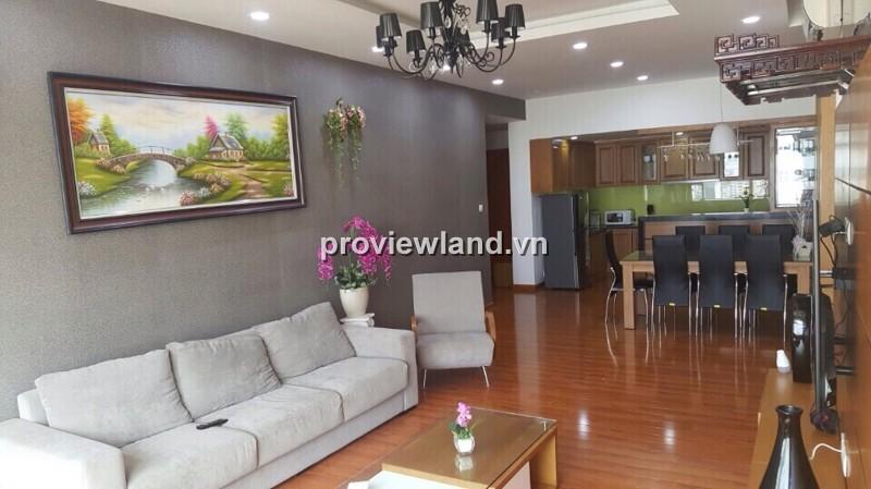 Căn hộ cao cấp Saigon Pearl cho thuê tòa Sapphire 134m2 3PN view khu Tân Cảng