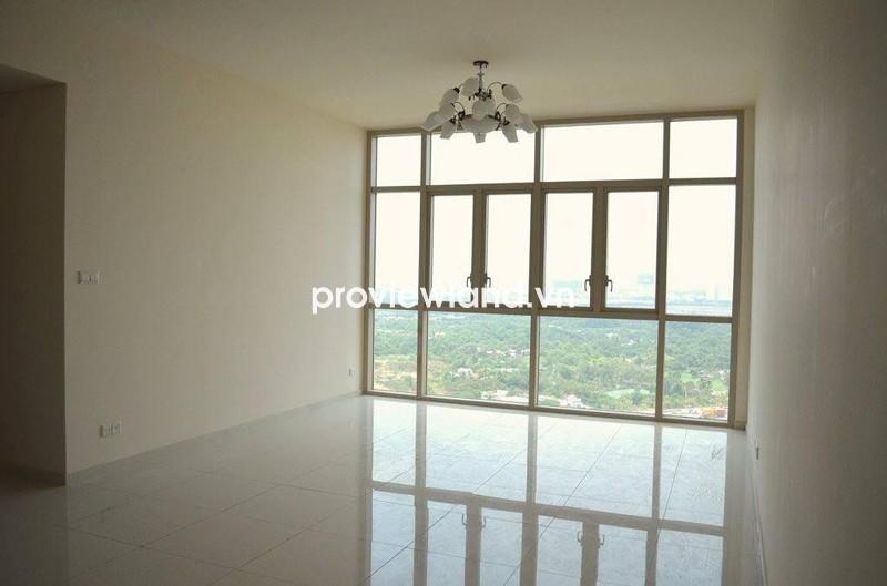 Cho thuê căn hộ The Vista tháp T2 145m2 3PN không bao gồm nội thất