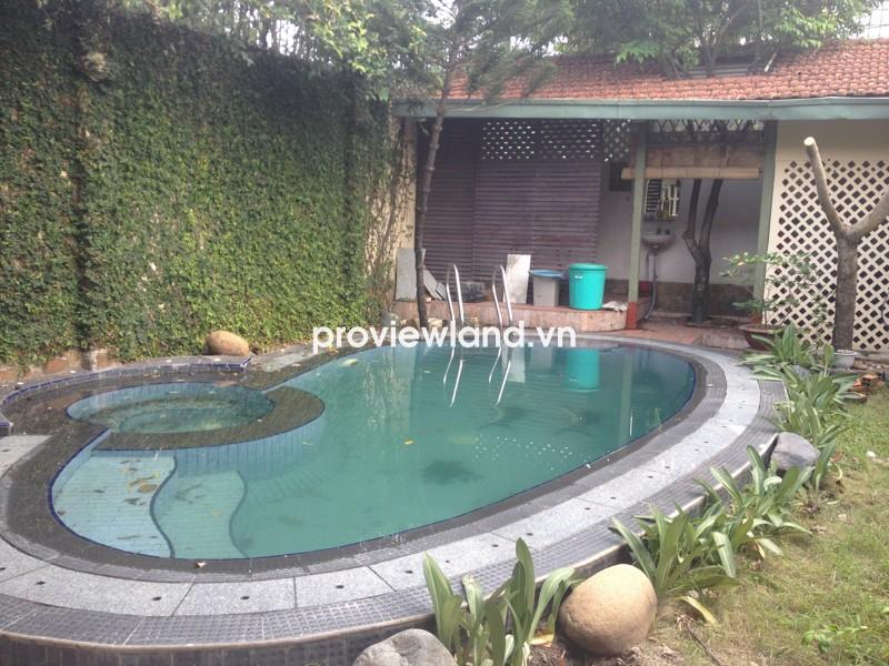 Cho thuê biệt thự khu Thảo Điền đường Lê Văn Miến 434m2 4PN có hồ bơi và sân đậu xe