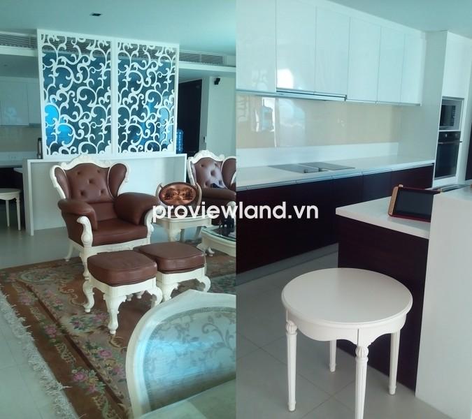 Cho thuê căn hộ Đảo Kim Cương tầng cao 250m2 3PN có ban công view sông thoáng đãng