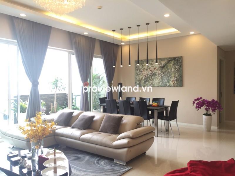 Cho thuê căn hộ cao cấp The Estella 148m2 tầng cao 3PN thiết kế sang trọng view hồ bơi