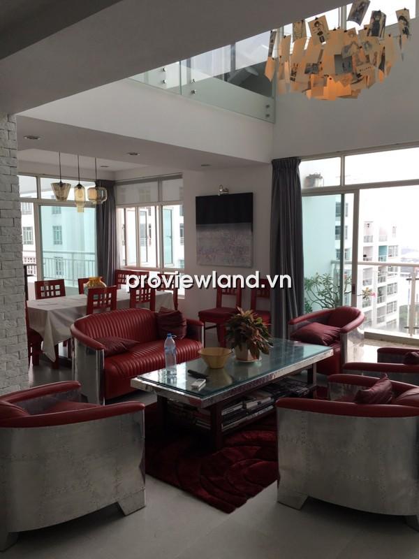 Cho thuê căn hộ Penthouse Hoàng Anh Riverview 252m2 3PN thiết kế đẹp mắt