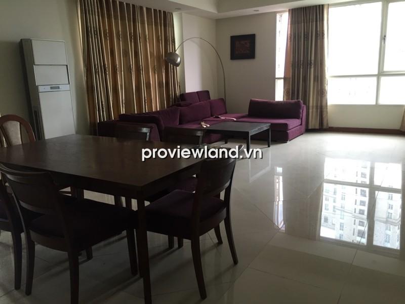 Cho thuê căn hộ The Manor HCMC tầng thấp 157m2 3PN view sông và quận 1