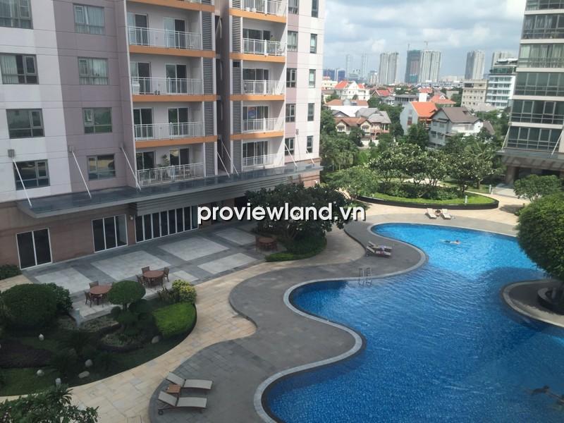 Cho thuê căn hộ XI Riverview tầng thấp 145m2 3PN có ban công view hồ bơi nội thất cơ bản
