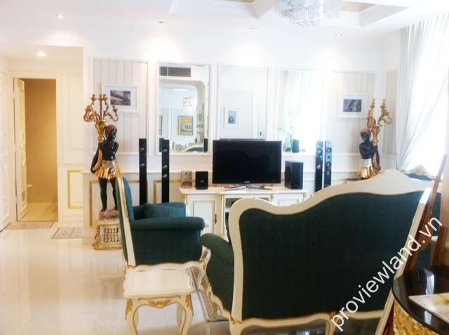 Cho thuê căn hộ The One Sài Gòn tầng cao 117m2 2PN có ban công hoàn thiện đầy đủ nội thất