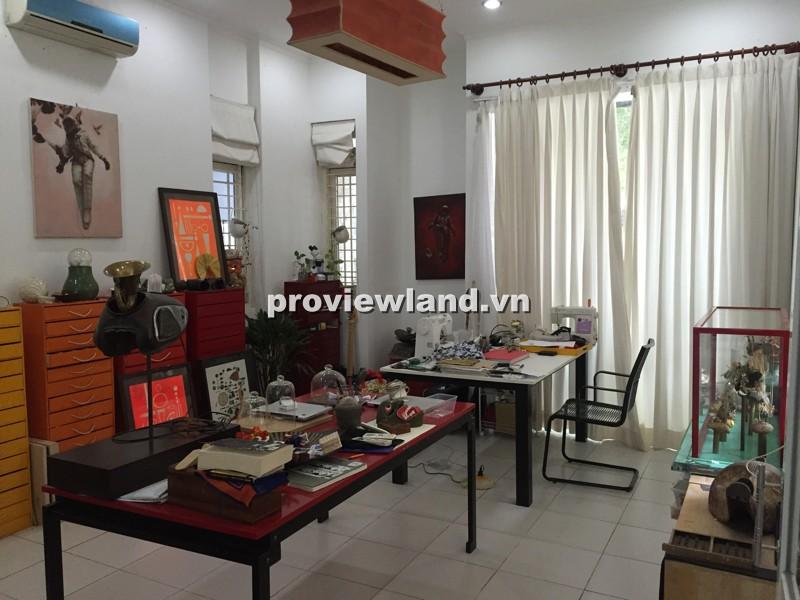 Bán biệt thự Thảo Điền đường Nguyễn Văn Hưởng 244m2 1 trệt 1 lầu có sân vườn gara