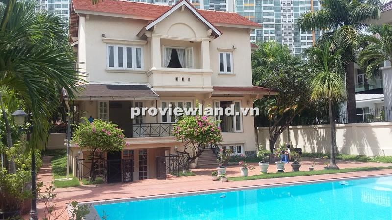 Cho thuê biệt thự An Phú An Khánh 800m2 3PN sân trước nhiều cây xanh hồ bơi rộng rãi