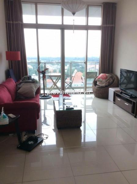 Cho thuê căn hộ The Vista tháp T3 DT 100m2 2PN đầy đủ nội thất với ban công view sông