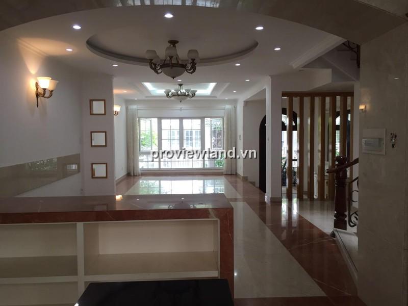 Biệt thự Saigon Pearl cho thuê 147m2 1 trệt 2 lầu 4PN nội thất cơ bản tiện nghi