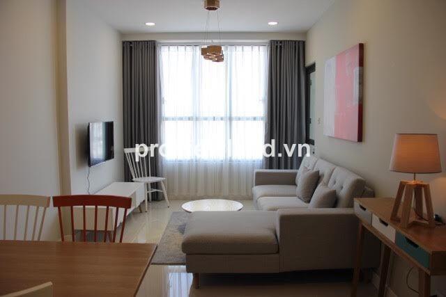 Căn hộ cho thuê ICON 56 Bến Vân Đồn Quận 4 Tầng 17 82m2 2 phòng ngủ full nội thất
