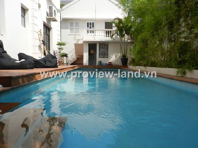 Bán biệt thự Thảo Điền 506m2 1 trệt 1 lầu hồ bơi sân vườn và gara xe hơi khu an ninh