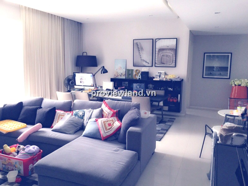 Căn hộ The Estella cho thuê tầng cao 148m2 3PN thiết kế đẹp mắt đầy đủ nội thất