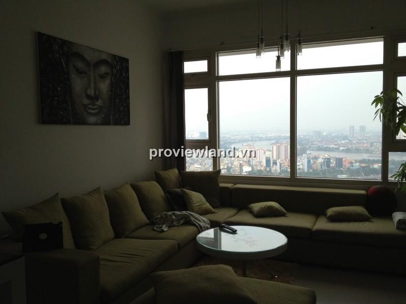 Căn hộ Saigon Pearl cho thuê tòa Topaz tầng cao 90m2 2PN đầy đủ tiện nghi