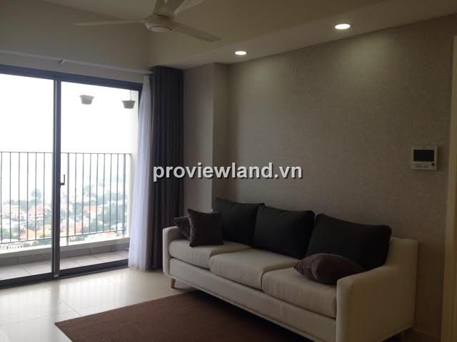 Cho thuê căn hộ Masteri Quận 2 tháp T2 63m2 2PN view sông đẹp mắt