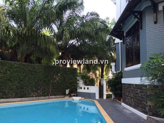 Biệt thự Thảo Điền 700m2 1 trệt 2 lầu 5PN có sân vườn và hồ bơi riêng
