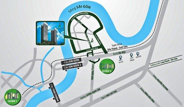 Vị trí căn hộ Ascent bán tại quận 2