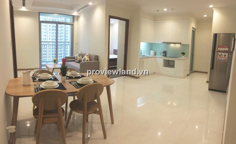 Căn hộ Vinhomes tòa Central 3 lầu thấp 72m2 2PN nội thất mới tiện ích cao cấp