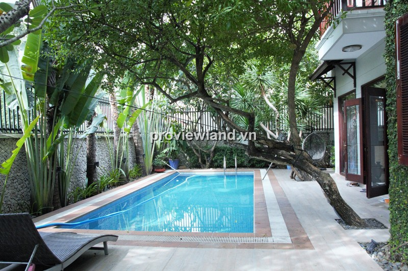 Biệt thự khu Thảo Điền 500m2 5PN thiết kế sang trọng có hồ bơi sân vườn riêng