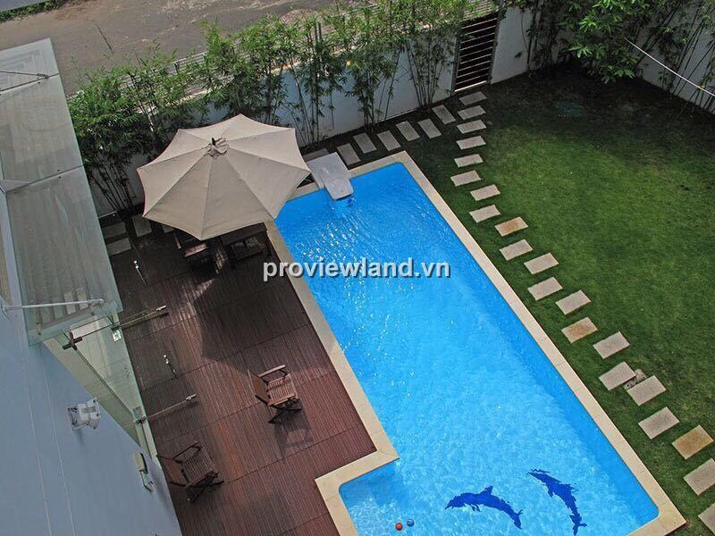 Biệt thự khu Compound Thảo Điền 600m2 6PN sân vườn đẹp và hồ bơi rộng rãi