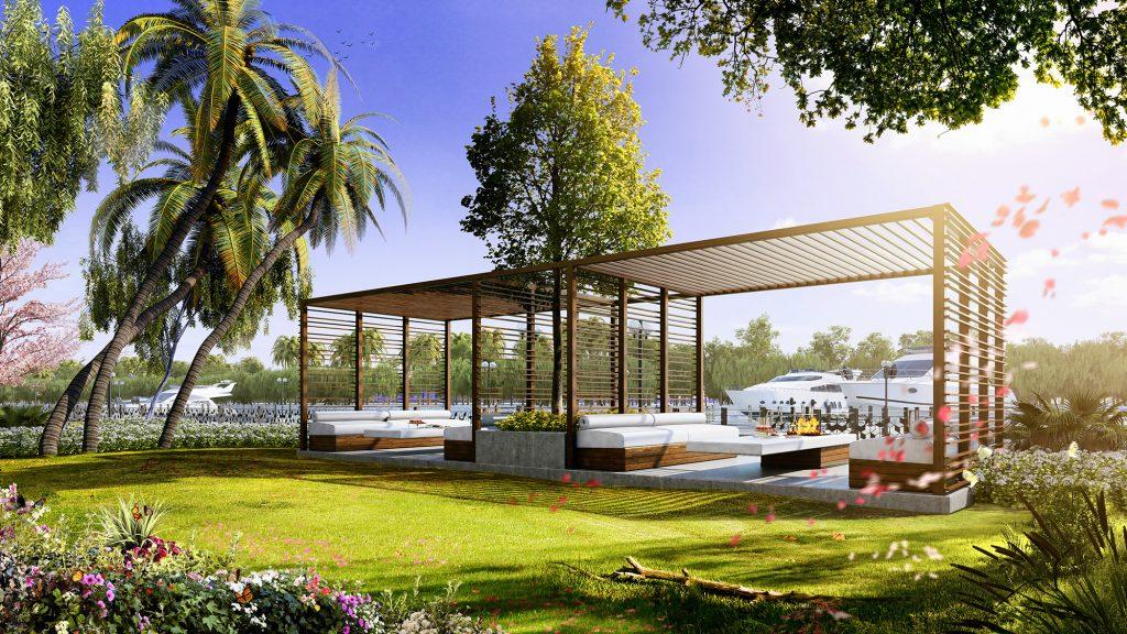Căn hộ Garden Villa tòa Bora Bora thông tầng 3PN diện tích sân vườn rộng
