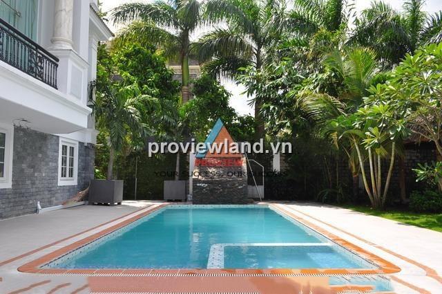 Biệt thự Thảo Điền mặt tiền sông Saigon 1 hầm 1 trệt 2 lầu DT 800m2 có sân vườn
