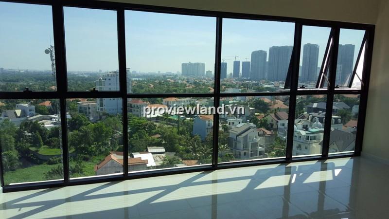 Căn hộ The Ascent block B tầng cao 99m2 3PN không nội thất view sông và hồ bơi