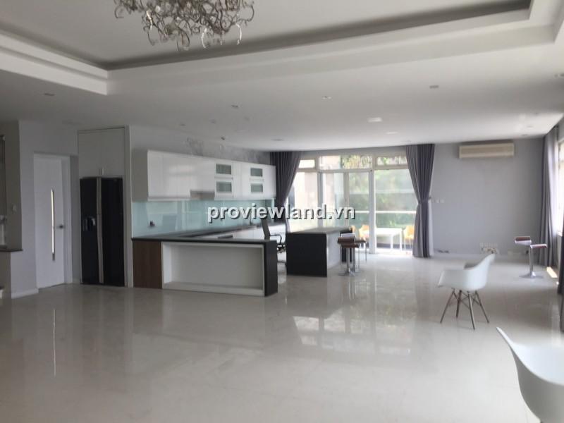 Căn Duplex 3 tầng 500m2 Saigon Pearl với 4PN nội thất cơ bản view sông và Bitexco