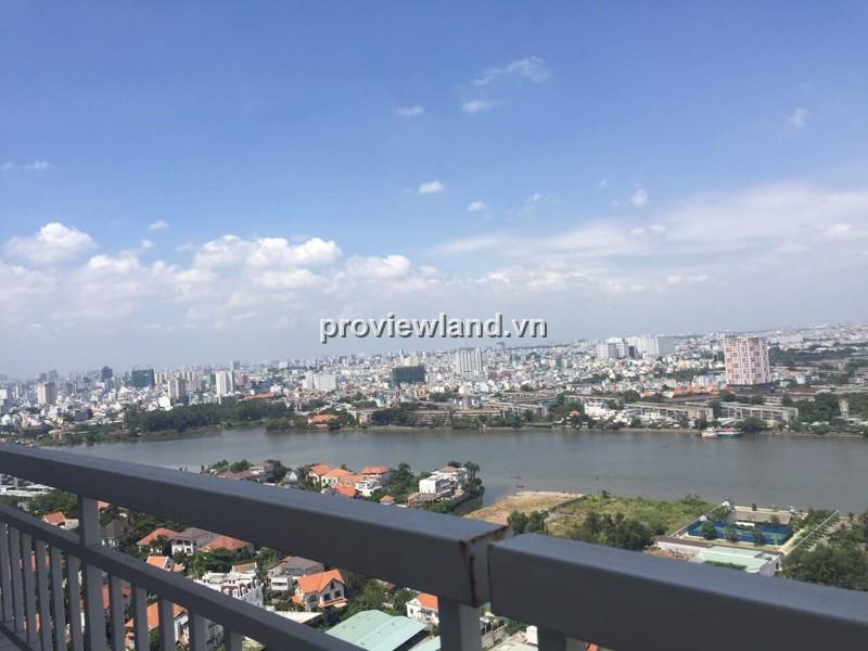 Căn hộ Tropic Garden tháp C1 tầng cao view sông 76m2 2PN nội thất cao cấp