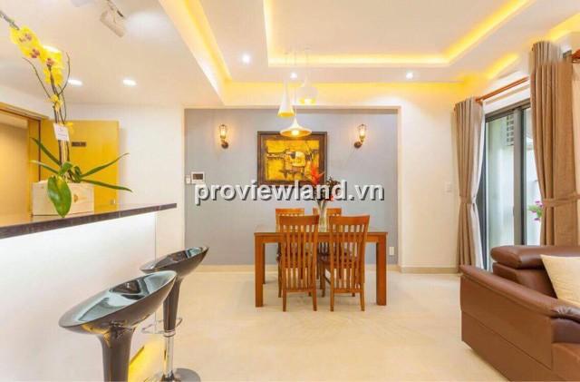 Căn hộ tháp T3 69m2 2PN nội thất hiện đại bếp với quầy bar tại Masteri Thảo Điền