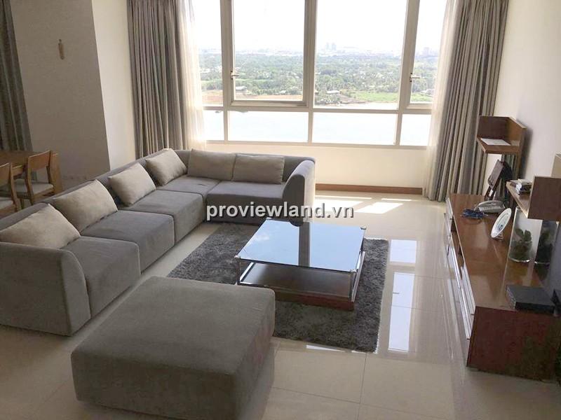 Căn hộ XI Thảo Điền tầng cao 185m2 3PN view sông trang bị đầy đủ nội thất