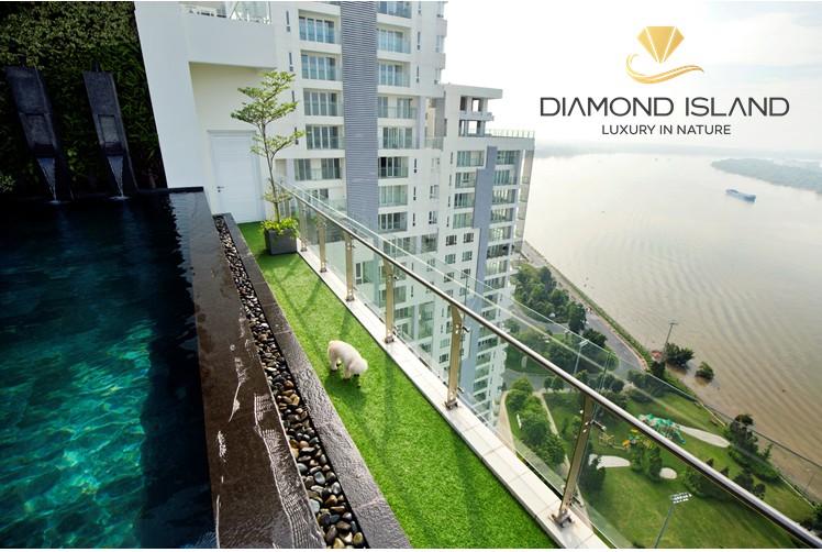 Căn Sky Villa tòa Bora Bora thiết kế thông tầng có hồ bơi và sân vườn riêng