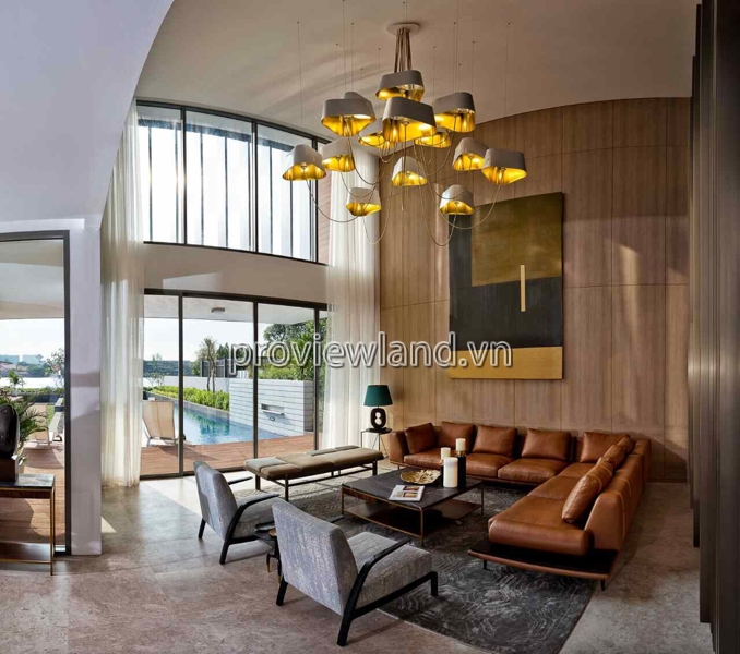 Biệt thự bờ sông Sài Gòn Thảo Điền bán có DT 800m2 3 tầng view sông cực đẹp