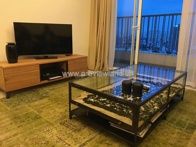 Cho thuê căn hộ Thảo Điền Pearl Quận 2 tầng cao 2PN nội thất đầy đủ
