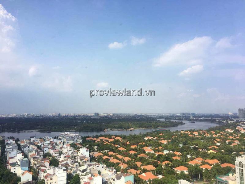 Căn hộ The Acsent cho thuê tầng cao view sông cực đẹp 3PN nội thất đầy đủ