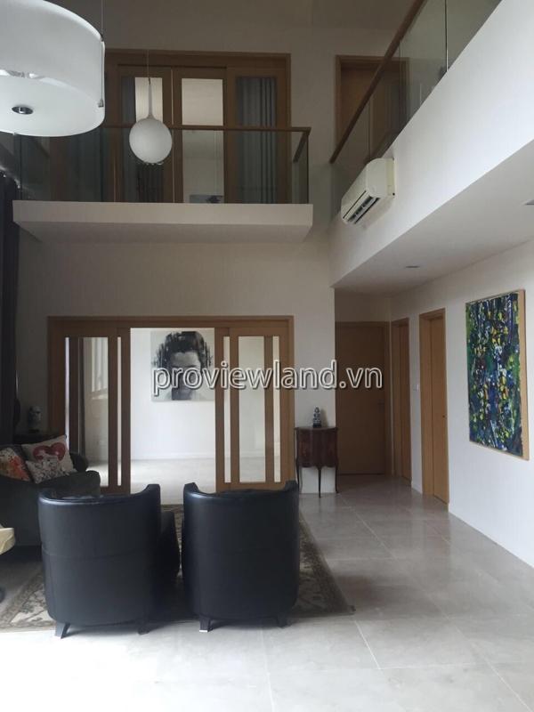 Cho thuê căn Penthuose The Vista DT 472m2 4PN 2 tầng đầy đủ nội thất