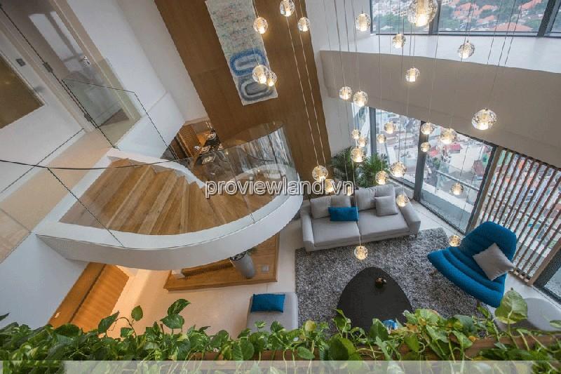 Penthouse City Garden 309m2 tầng cao view thành phố đây là căn villa trên cao